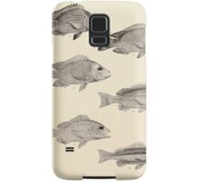 The fishes of India by Francis Day 009 - Lutianus Erythropterus young - L Erythropierus adult - L Dodecacanthus - L Bengalensis - L Fulvus - L Biguttatus Samsung Galaxy Case/Skin