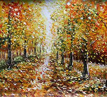 Buy Landscape Oil Painting For Sale Autumn by www.Rybakow.com by valery rybakow