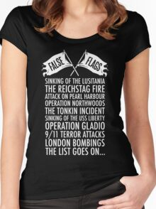 False Flags Women's Fitted Scoop T-Shirt