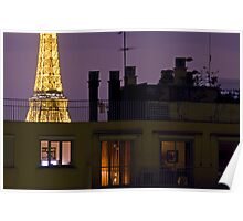 France - Paris 75016 - By night Poster