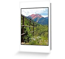 Fence At Ouray Greeting Card