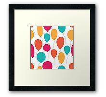 Party balloons pattern. Framed Print