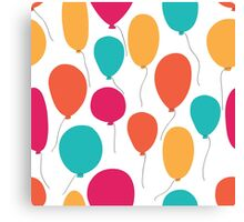 Party balloons pattern. Canvas Print
