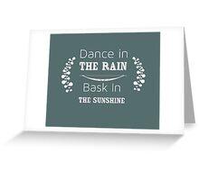 Shabby Chic Dance in the Rain Greeting Card