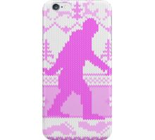 Gone Squatchin Ugly Christmas Sweater Knit Style iPhone Case/Skin