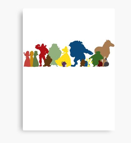 Beauty and the Beast Crew Canvas Print