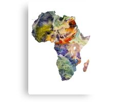 Map Africa 6 Canvas Print