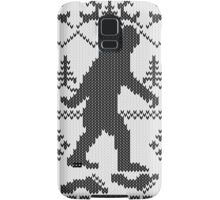 Gone Squatchin Ugly Christmas Sweater Knit Style Samsung Galaxy Case/Skin