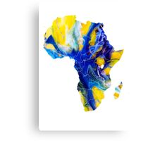 Africa map 6 Canvas Print
