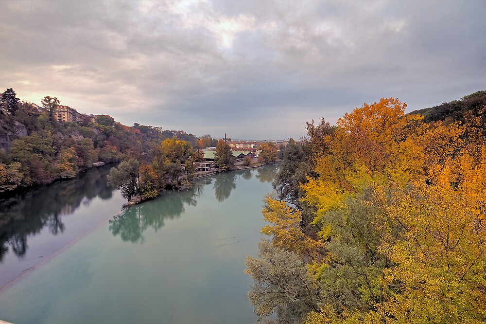 River Rhone and Arve by David Freeman