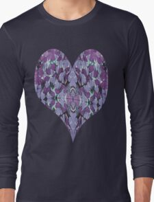 Purple Feathers Long Sleeve T-Shirt