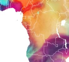 Africa map 7 watercolor Sticker