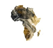 Africa map 8 Photographic Print