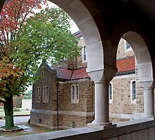 Arches of Subiaco Abbey by Bonnie T.  Barry
