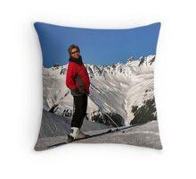 Ans on the Silvretta Nova Throw Pillow