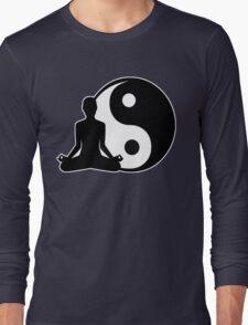 Ying and Yang Meditator Long Sleeve T-Shirt