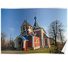 Picturesque Eastern Orthodox Christian Church, Czech Republic  Poster
