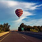 HOT AIR BALLOON OVER THE HIGHWAY by SMOKEYDOGSOCKS