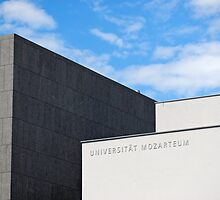 Modern Building of Mozart University, Salzburg, Austria   by Petr Svarc