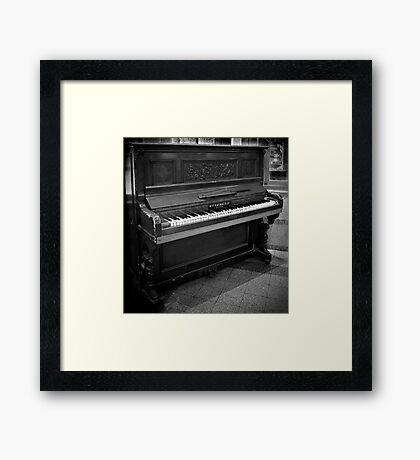 Antique Piano Framed Print