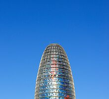 Modern Torre (Tower) Agbar Skyscraper in Barcelona (Spain)  by Petr Svarc