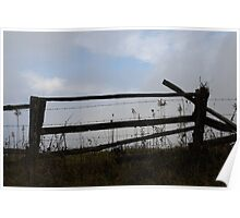 Pasture Fence Poster