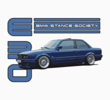 BMW E30 Stance - Blue by BSsociety
