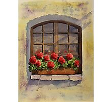 French Window Dressing Photographic Print