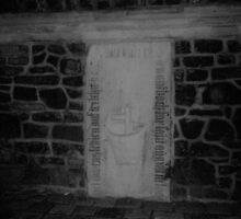grave on wall of cathedral by Norwen