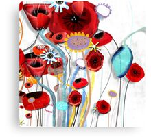 Here's my blooming heart, don´t break it Canvas Print