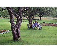 Nova Scotia--Mom and the twins Photographic Print