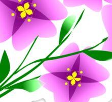 Mauve flowers on a beige background Sticker