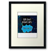 TFIOS galaxy Framed Print