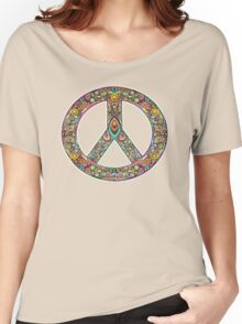 Pretty Peace Sign Women's Relaxed Fit T-Shirt