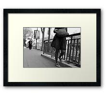 Paris - Smoking Time. Framed Print