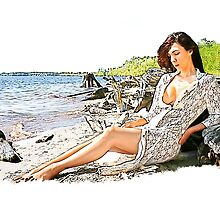 Shoreline Lady by Karl Baitz