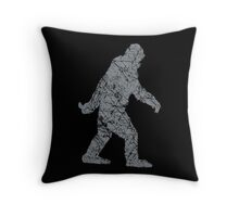 Gone Squatchin in Grunge Distressed Style Throw Pillow