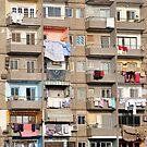 Balconies of Apartment Block, Cairo, Egypt  by Petr Svarc
