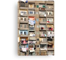 Balconies of Apartment Block, Cairo, Egypt  Canvas Print