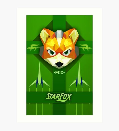 Star Fox - Fox McCloud Propaganda Style Print Art Print