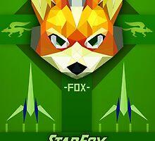 Star Fox - Fox McCloud Propaganda Style Print by SuchPsycho