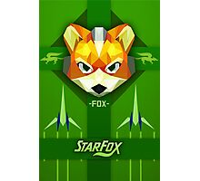 Star Fox - Fox McCloud Propaganda Style Print Photographic Print