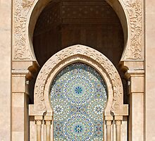 Fountain at Hassan II Mosque, Casablanca by Petr Svarc