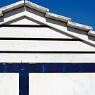 Blue and White Beach Hut, Costa Brava, Spain by Petr Svarc