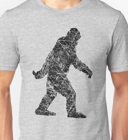 Gone Squatchin in Grunge Distressed Style Unisex T-Shirt