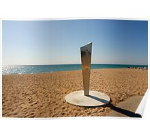 Shower on Empty Beach, Costa Brava, Spain  Poster