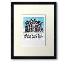 Heavy Rock Gods Framed Print