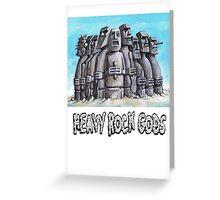 Heavy Rock Gods Greeting Card