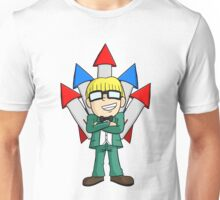 Jeff w/ Rockets Unisex T-Shirt