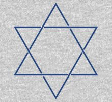 Star of David - blue and fine One Piece - Long Sleeve